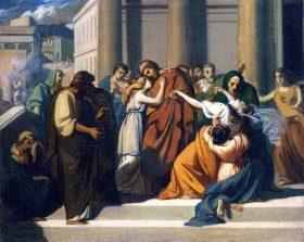 Прощание Эдипа и Иокасты